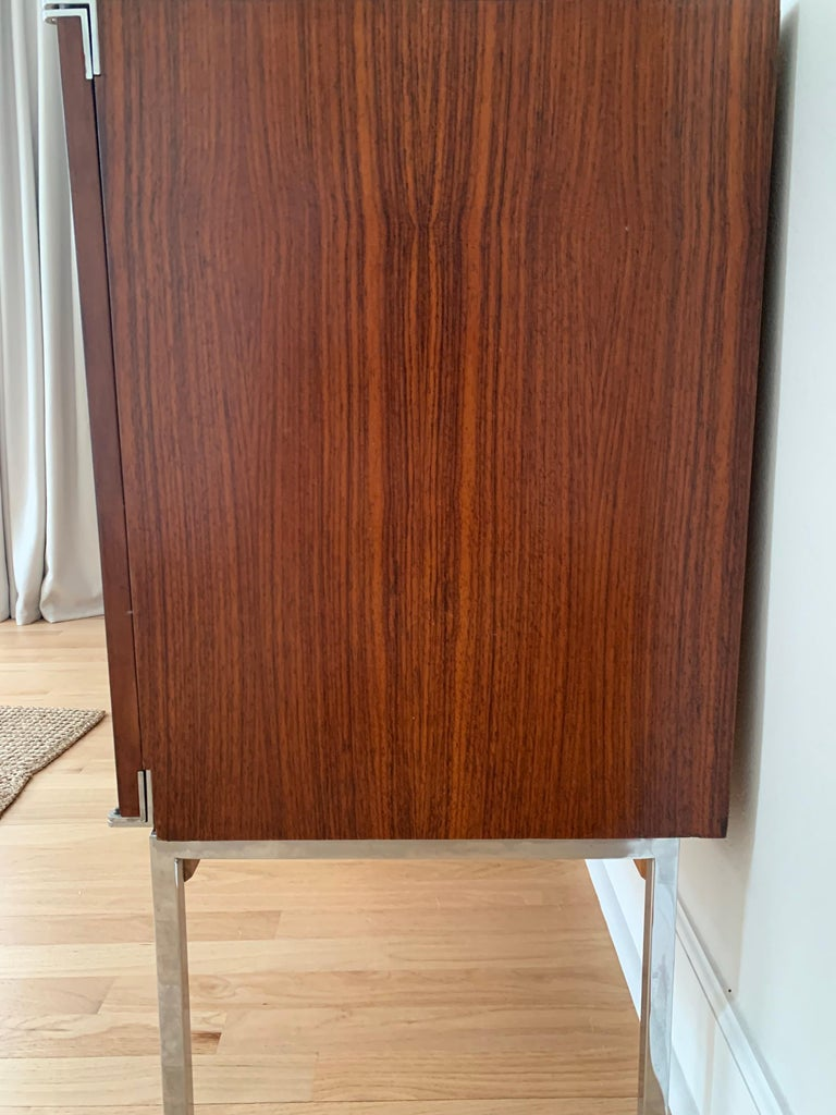 Plated Antoine Philippon & Jacqueline Lecoq Rosewood Credenza Sideboard for Behr, 1960s For Sale