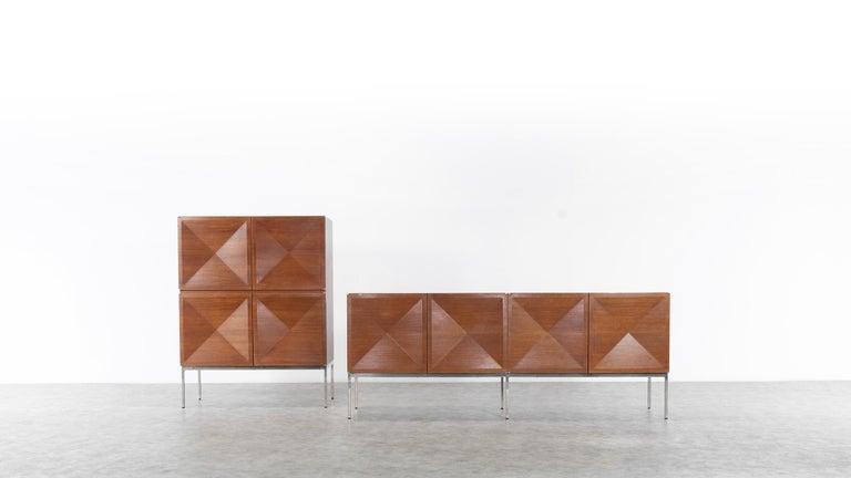 Mid-Century Modern Antoine Philippon & Jacqueline Lecoq Sideboard by Behr, 1962 Pointe De Diamant For Sale