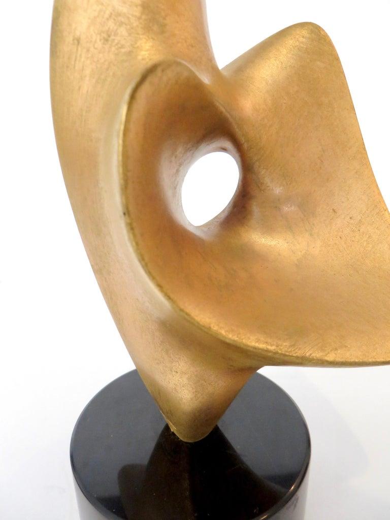 Antoine Poncet Gilt Washed Bronze Sculpture on Marble Base For Sale 5