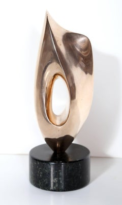 Modern Abstract Polished Bronze by Antoine Poncet
