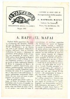 Raphael Mafai.- La Tartaruga Gallery Vintage Catalogue - 1955