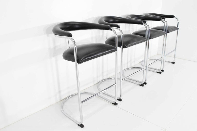 Anton Lorenz for Thonet Bar Stools In Excellent Condition For Sale In Dallas, TX