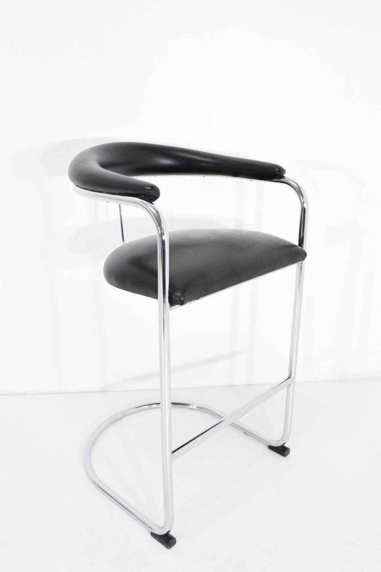 Upholstery Anton Lorenz for Thonet Bar Stools For Sale