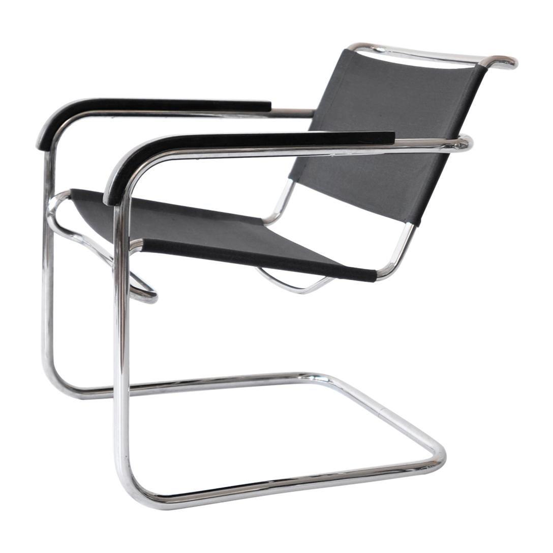 Anton Lorenz Tubular Steel Cantilever Club Chair KS 41 for Thonet, circa 1935