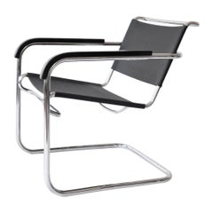 Anton Lorenz Tubular Steel Cantilever Club Chair KS 41 for Thonet, circa 1935