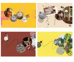 Bedtime Stories - Four Paneled Artwork, Mixed Media on Paper