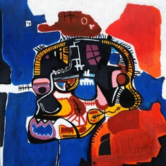 After Jean-Michel Basquiat, Painting, Acrylic on Metal