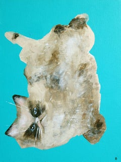Lazy Cat, Painting, Acrylic on Canvas