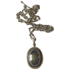 Anton Michelsen Sterling Silver Pendant with Hematite