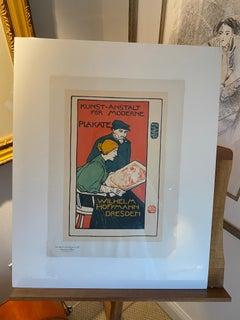 """""""Kunst-Anstalt fur Moderne Plakate"""" from Les Maitres de l'Affiche"""