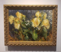 Yellow Floral, Still-Life artist, Impressionism , Classical, Florence Academy