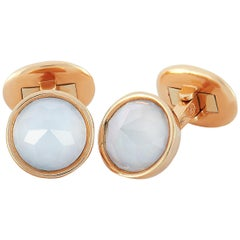 Antonellis 18 Karat Rose Gold and Moonstone Cufflinks