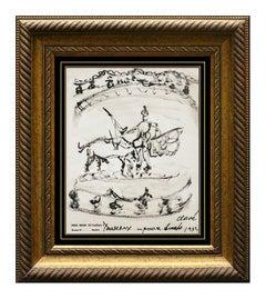 ANTONI CLAVE Rare Original Painting Signed Artwork Framed Matador Bull Fighting