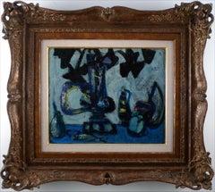 """Still Life"" 20th Century Oil on Canvas by Spanish Artist Antoni Clavé"