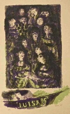 Luisa - Original Lithograph by Antoni Clavé - 1943