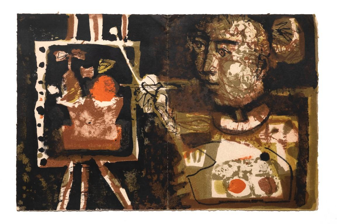 The Painter - Original Lithograph on Papaer by Antoni Clavé - 1954