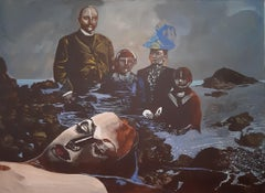 End of Europe -XXI Century, Oil painting, Contemporary Figurative