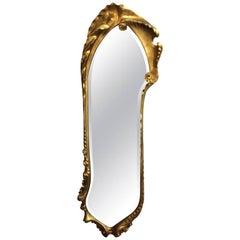 Antoni Gaudi Art Nouveau Style Giltwood Mirror