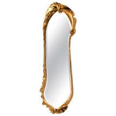 Antoni Gaudi Calvet Mirror Oak Gold Leaf