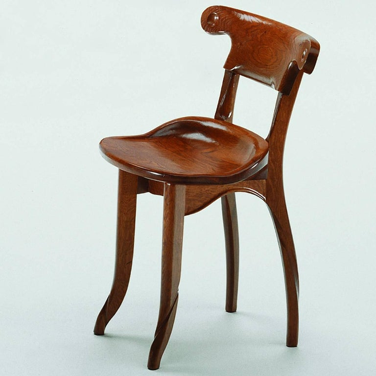 Jugendstil Antoni Gaudi, Jugdenstill, Solid Oak Batllo Spanish Chair