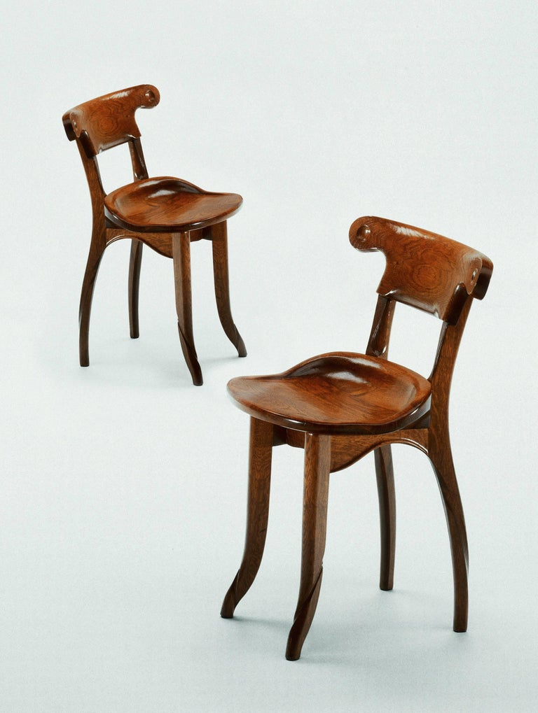 Antoni Gaudi, Jugdenstill, Solid Oak Batllo Spanish Chair In New Condition In Barcelona, Barcelona