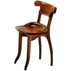 Antoni Gaudi, Jugdenstill, Solid Oak Batllo Spanish Chair