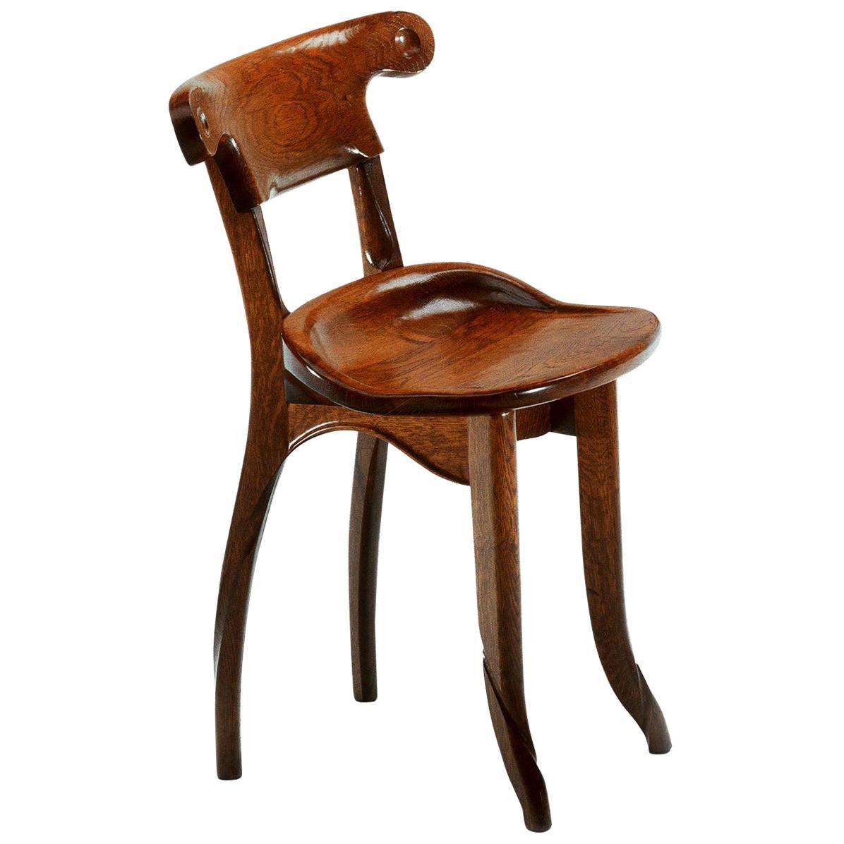 Antoni Gaudi, Jugendstil, Solid Oak Batllo Spanish Chairs