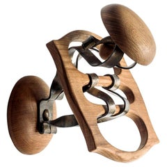 Antoni Gaudi Wood and Metal Calvet Hanger