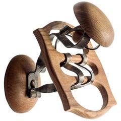 Antoni Gaudi Wood and Metal Calvet Hanger