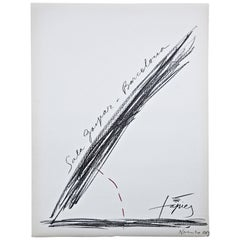 Antoni Tàpies Abstract Art Lithograph, Exibition 1969