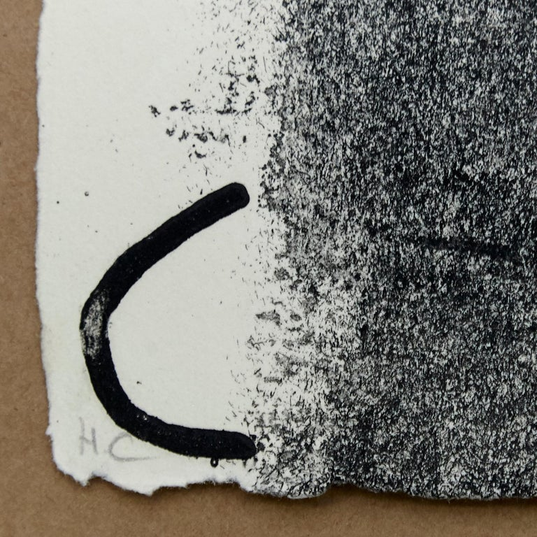 Mid-Century Modern Antoni Tàpies Etching, Lletres i gris, 1976 For Sale