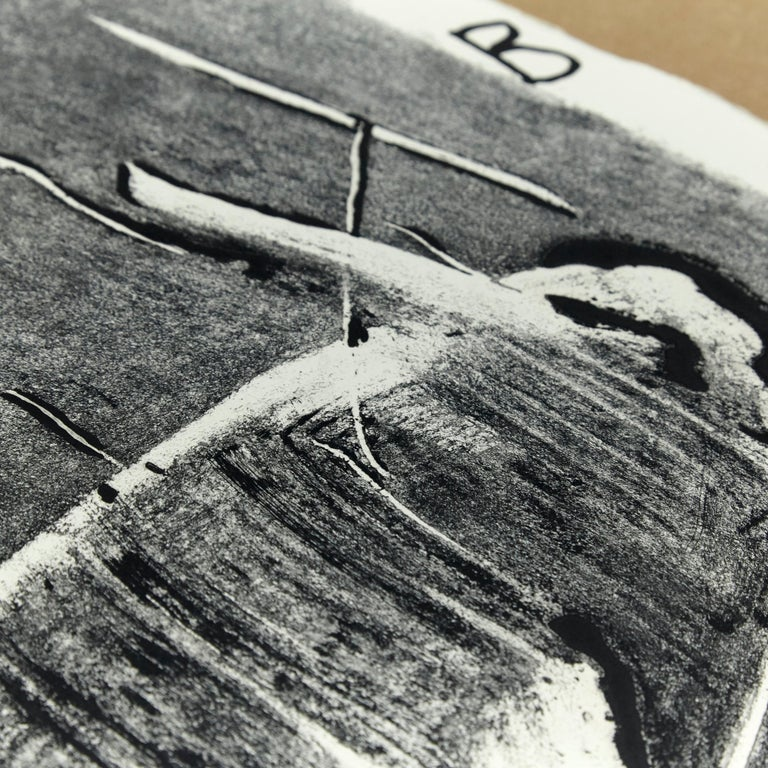 Antoni Tàpies Etching, Lletres i gris, 1976 In Good Condition For Sale In Barcelona, Barcelona