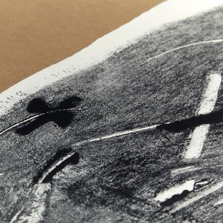 Paper Antoni Tàpies Etching, Lletres i gris, 1976 For Sale