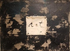 Antoni Tàpies, circa 1970, Painting, graphite, collage and grattage on cardboard