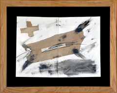 No title, Antoni Tàpies, 70's, Collage, ink, gouache on paper