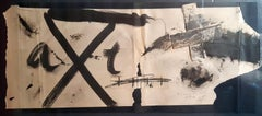 No title - Ink, collage, waxes on paper by Antoni Tàpies, 1960's