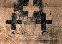 Untitled, Antoni Tàpies, circa 1970, Oil and ink on kraft paper