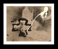 cruz negra Original abstract acrylic paper painting