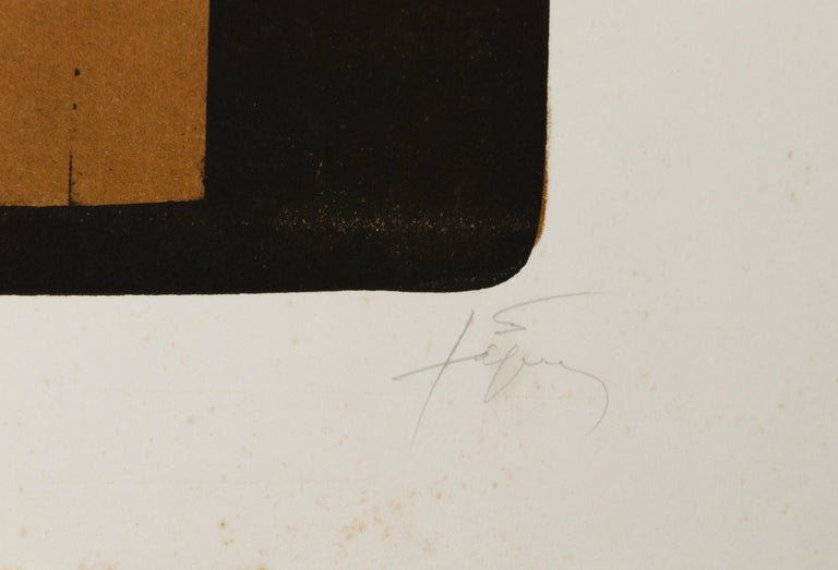 A Effacé - Original Lithograph by Antoni Tapies - 1976 - Contemporary Print by Antoni Tàpies