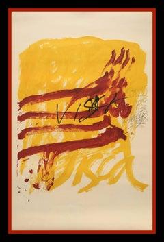 """""""ALS MESTRES DE CATALUNYA"""" 1974 original lithography painting"""