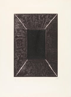 "Antoni Tapies, ""La Porte"", Color Etching with Carborundum, signed, limited, 1969"