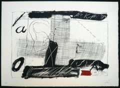 ANTONI TÀPIES Llambrec 2 Hand signed & numbered litho. Abstraction, contemporary