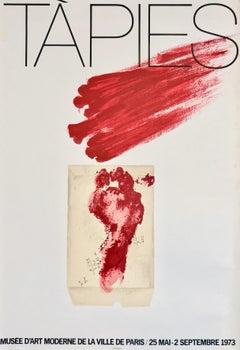Antoni Tàpies Musée d'Art Moderne 1973 poster (Antoni Tàpies prints)
