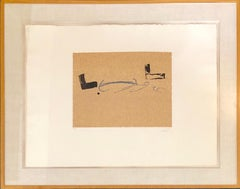 Antoni Tapies Post Modern Abstract Expressionist Aquatint