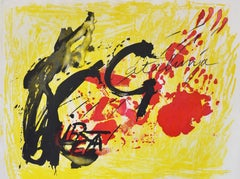 Antoni Tapies, Suite Catalana, plate 4, 1971