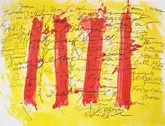 Antoni Tapies, Suite Catalana, plate 5, 1971