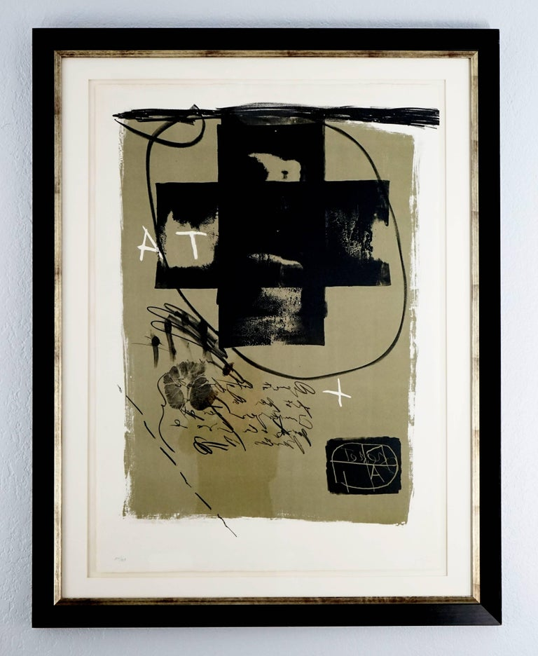 Art 6 '75 - Print by Antoni Tàpies