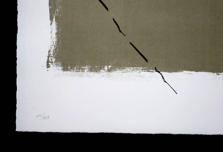 Art 6 '75 - Abstract Expressionist Print by Antoni Tàpies