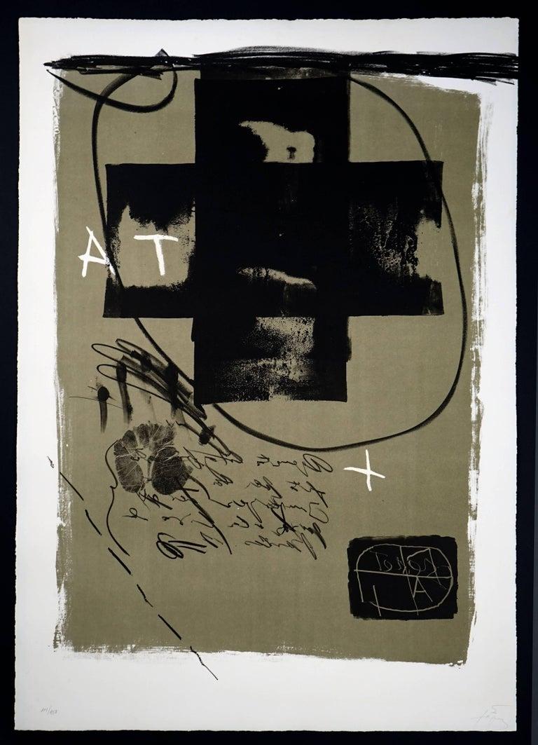 Antoni Tàpies Abstract Print - Art 6 '75