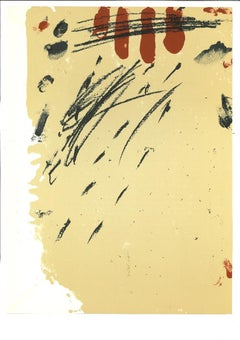 Composition - Original Lithograph by Antoni Tàpies - 1968